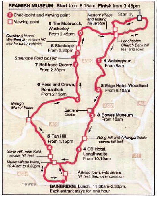 Beamish Run 2013 Route